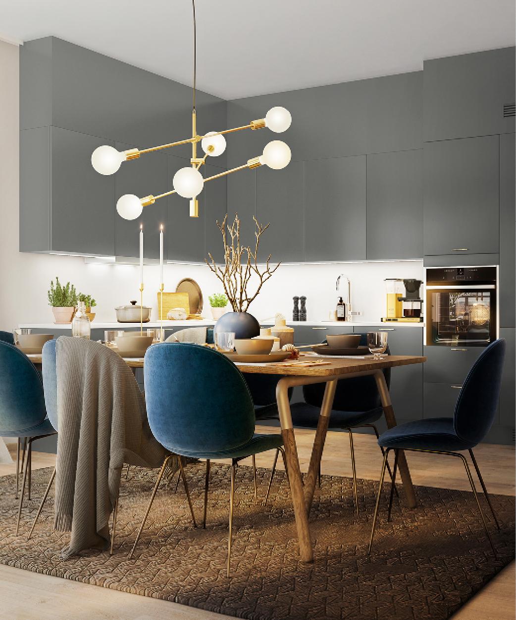 Stort moderne kjøkken i seniorleilighet i Oslo